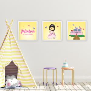 Quadros decorativos para quarto infantil de menina princesas