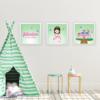 Quadros decorativos das princesas verde