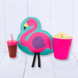 almofada kit pipoca tema flamingo
