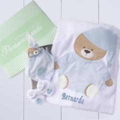 Kit presente para recém nascio meninos tema ursinho