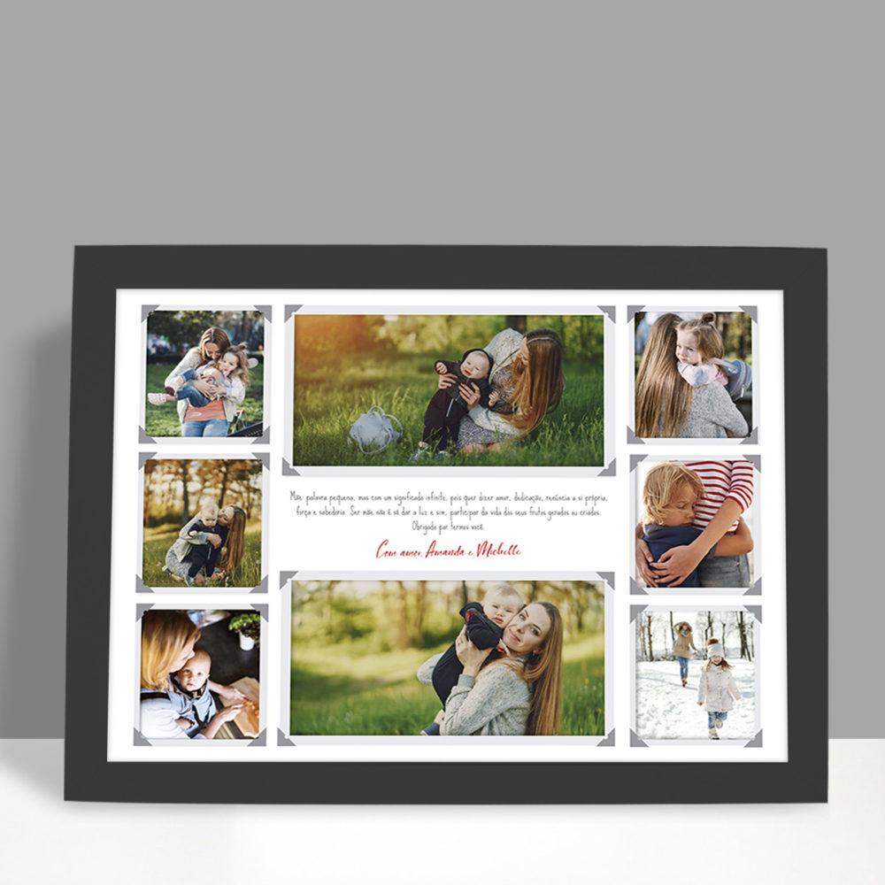 Presente criativo com foto - significado da palavra mãe com 8 fotos