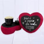 Almofada Kit Pipoca – Coração – Razão da minha Felicidade