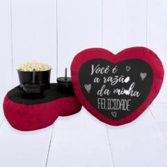 presente dia dos namorados - almofada pipoca coração