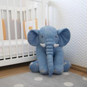 Presente para rcém-nascido - elefante de pelúcia para bebê dormir