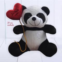 Presente criativo para dia dos namorados - panda de pelúcia segurando balão