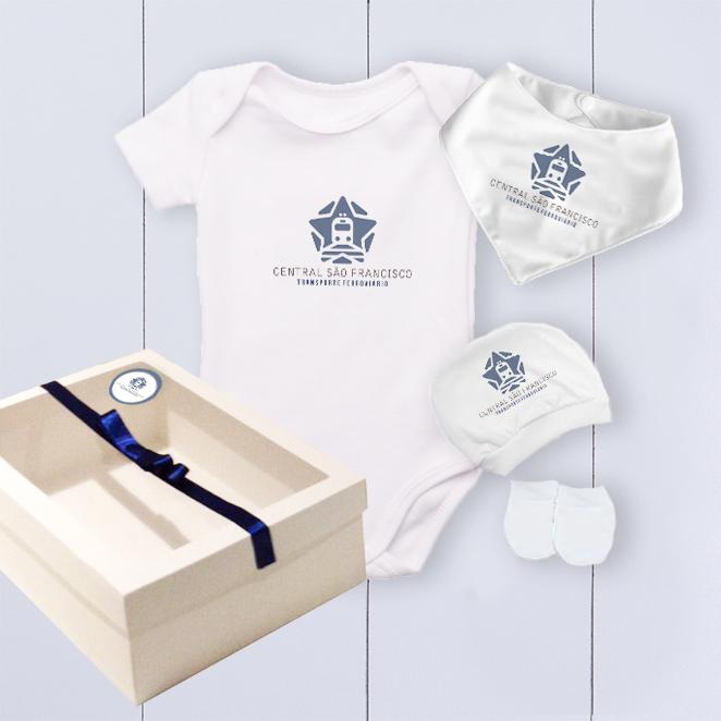 Kit bebê para empresas - personalizado com logo