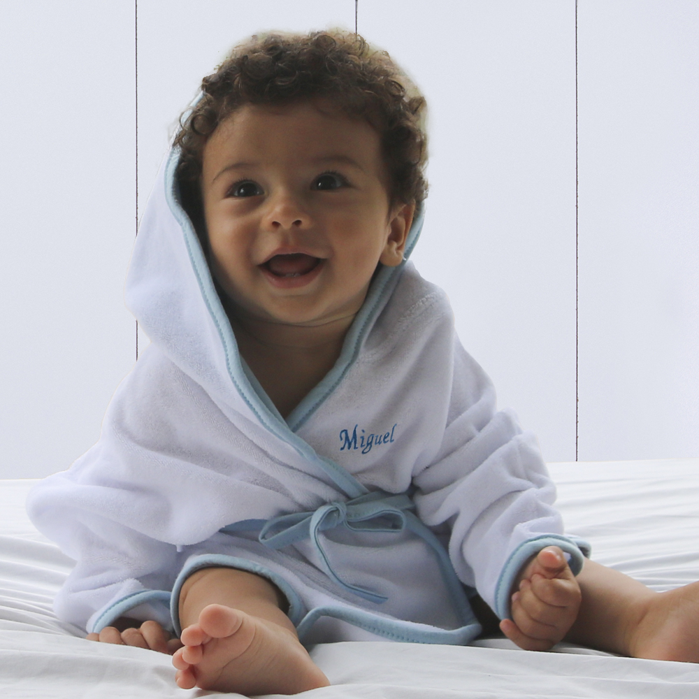 Presente para bebê de 1 ano - roupão atoalhado com capuz personalizado