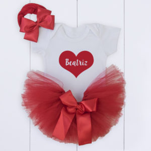 Conjunto com saia tule para ensaio fotográfico bebê