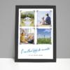 Foto presente Dia dos Pais - Quadro decorativo personalizado com 4 fotos e texto