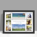 Presente Dia dos Pais - quadro personalizado com 8 fotos