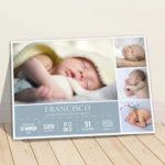 Quadro meu nascimento com 4 fotos meninos