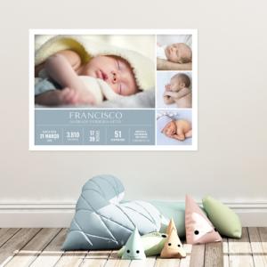 quadro de nascimento de bebê meninos