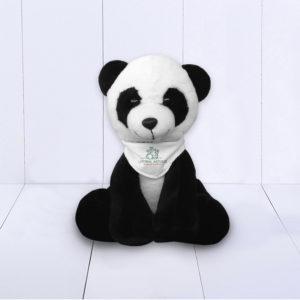 Presente Nascimento Empresas - Panda de pelúcia personalizado com logo