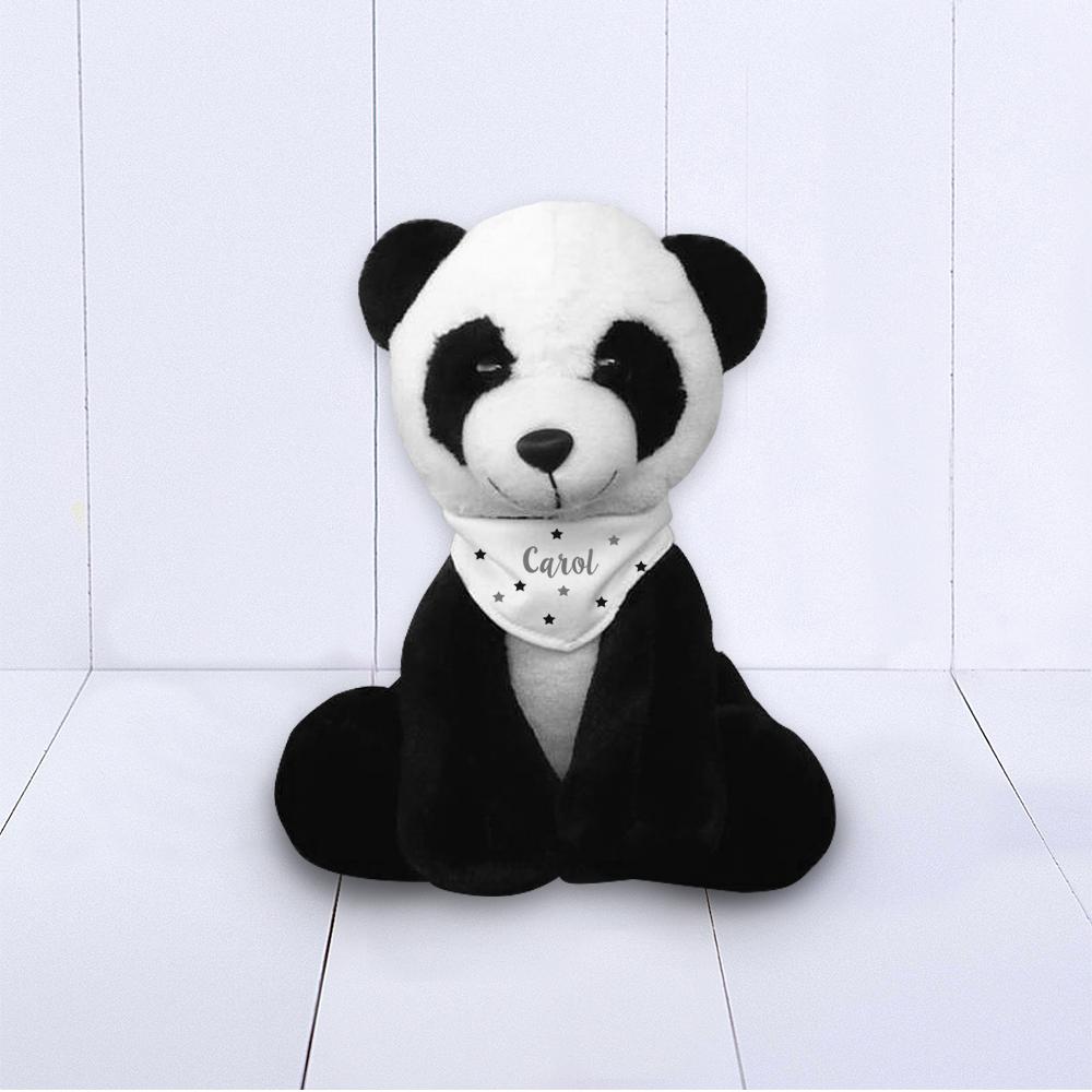 Presente para bebê - Panda com bandana personalizada