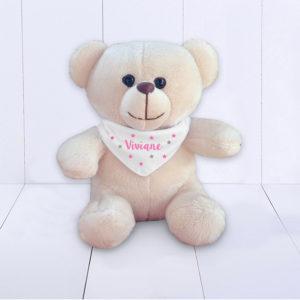 Presente para Bebê - ursinho de pelúcia com bandana personalizada