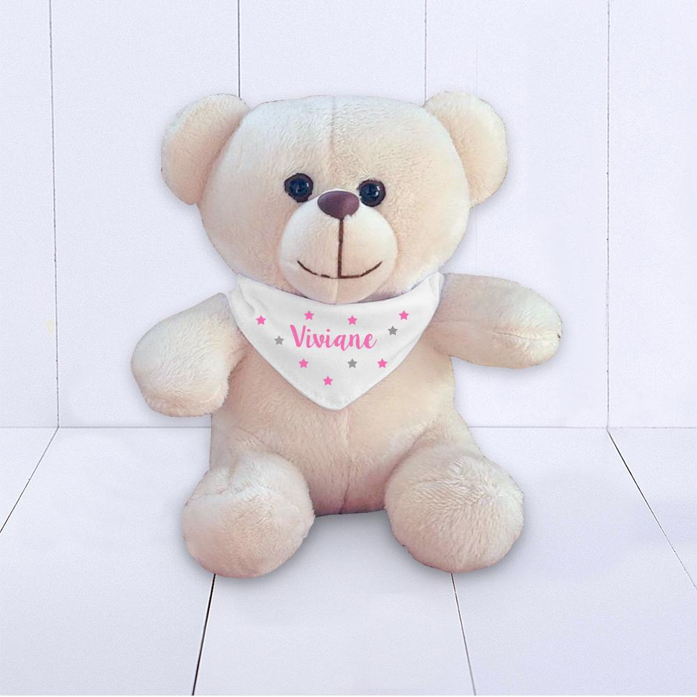 Urso BRUMAR com Bandana – personalizado – meninas