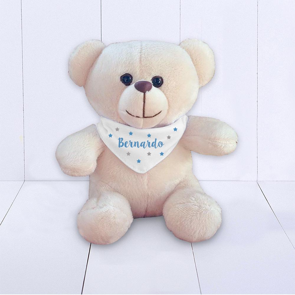Presente para bebe - ursinho com pelúcia personalizada