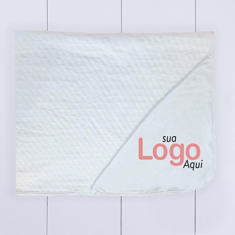 Brinde Corporativo - Manta bebê personalizada com logo