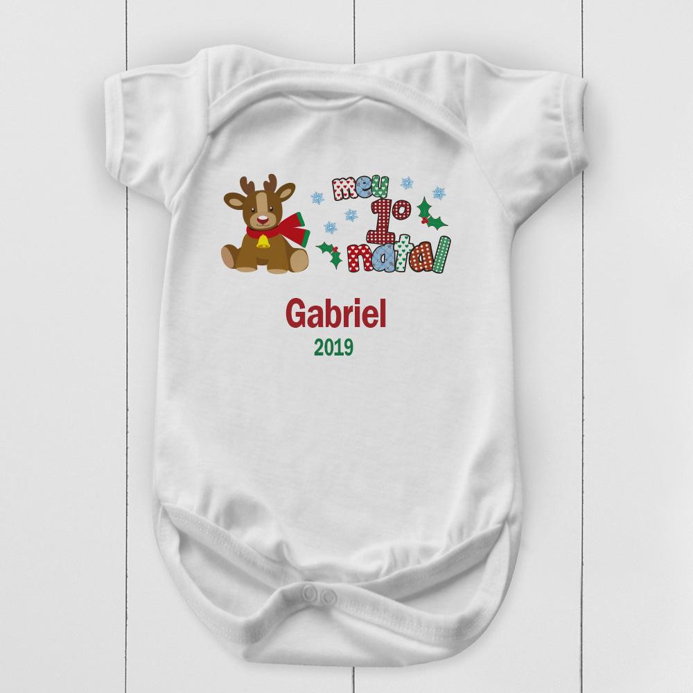 body de Natal personalizado para bebê