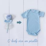 Body bebê azul