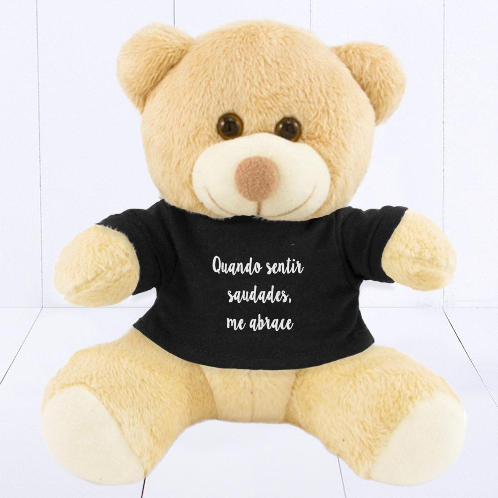 Presente para homem - urso com camiseta preta personalizada
