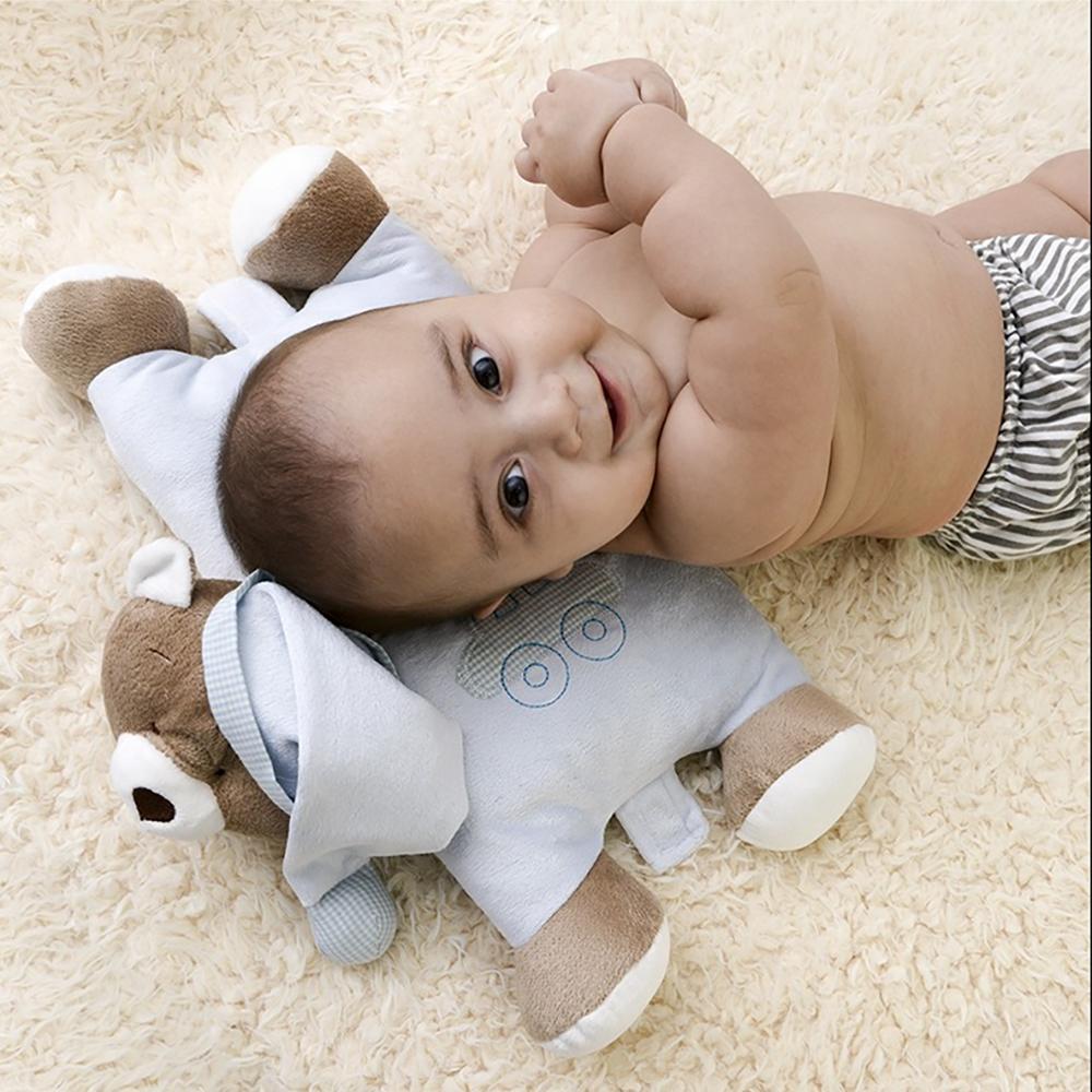Presente para recém-nascido - ursinho traveseiro azul