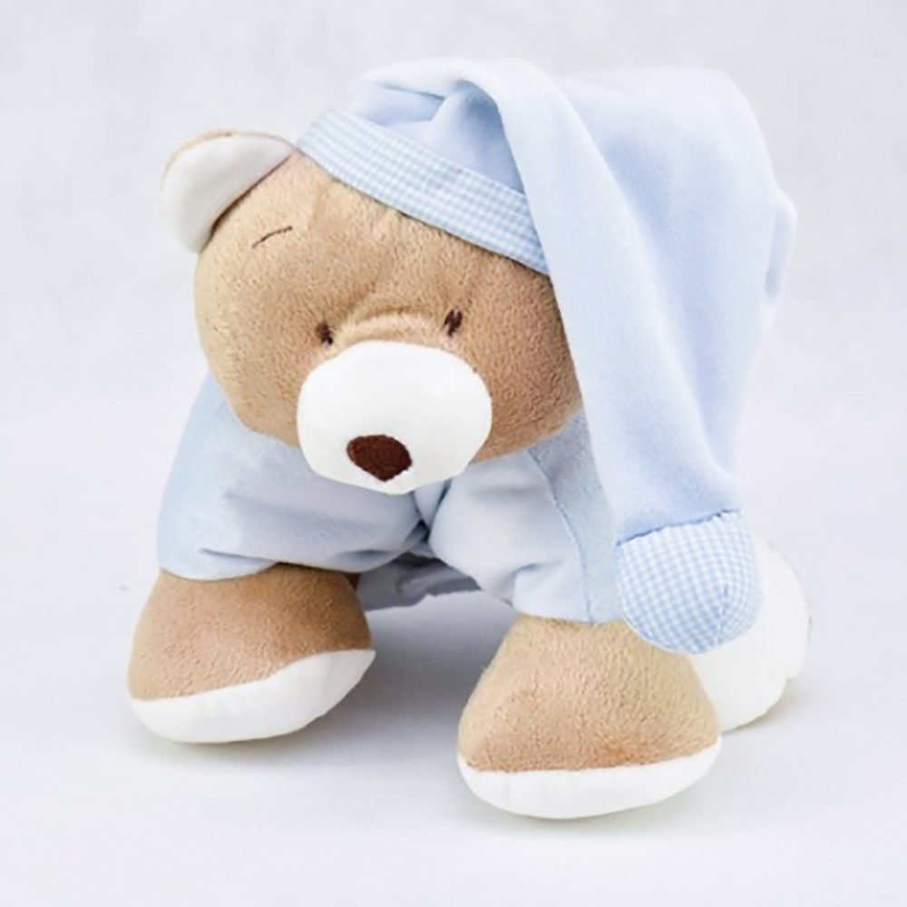 Presente para bebê menino - urso travesseiro azul