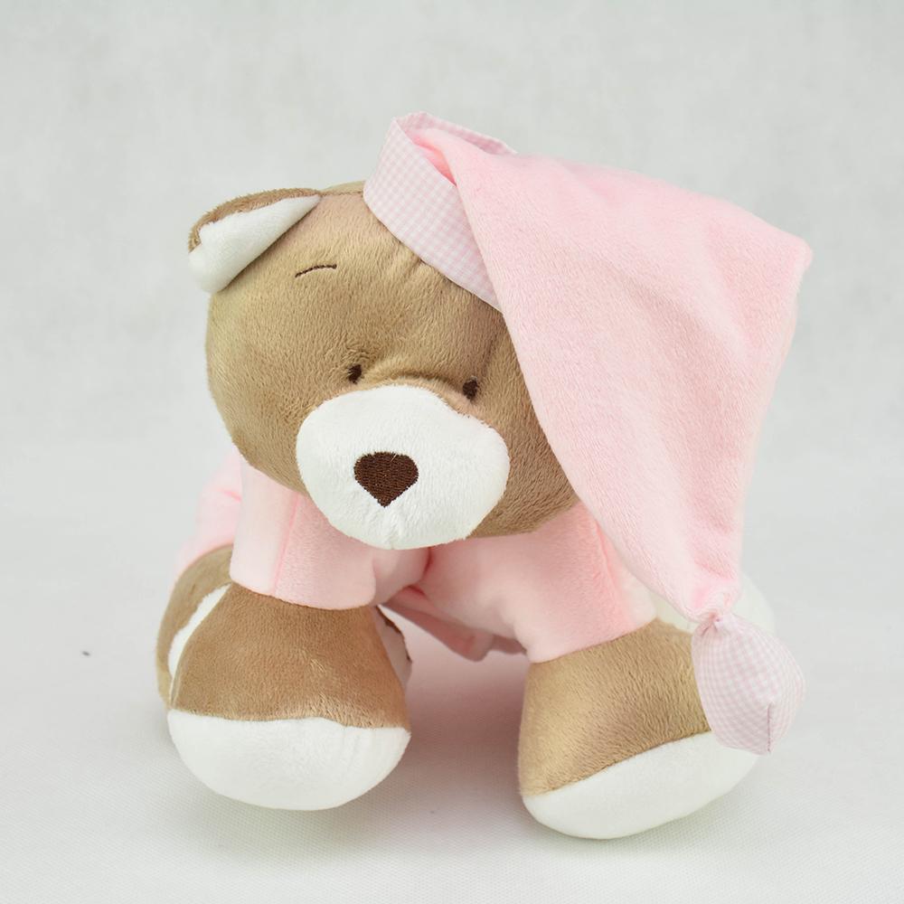 Presente para bebê 0 ursinho que vira travesseiro - meninas