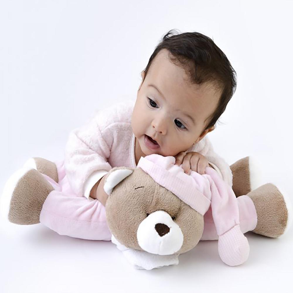 presente para bebê - ursinho travesseiro para bebê menina